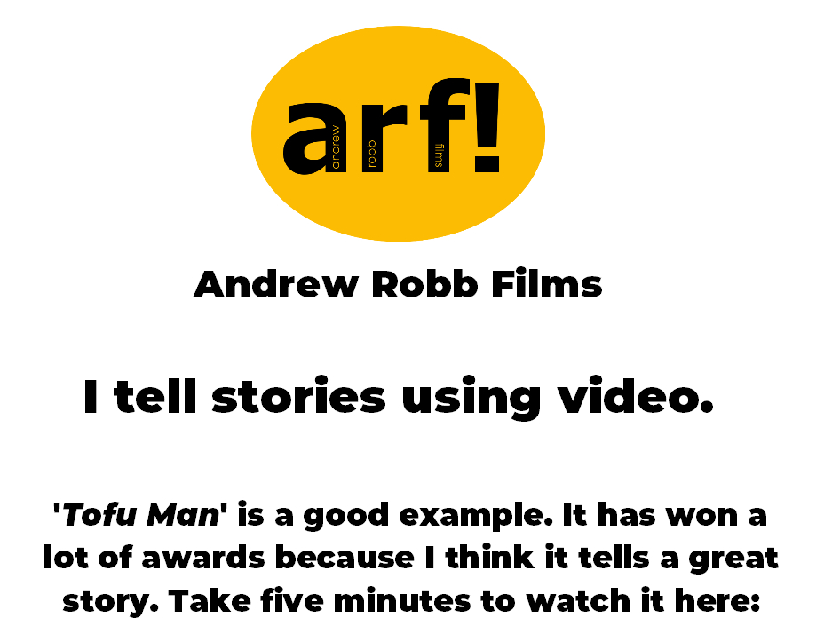 Andrew Robb Films, melbourne based videographer, filmmaker, corporate video maker